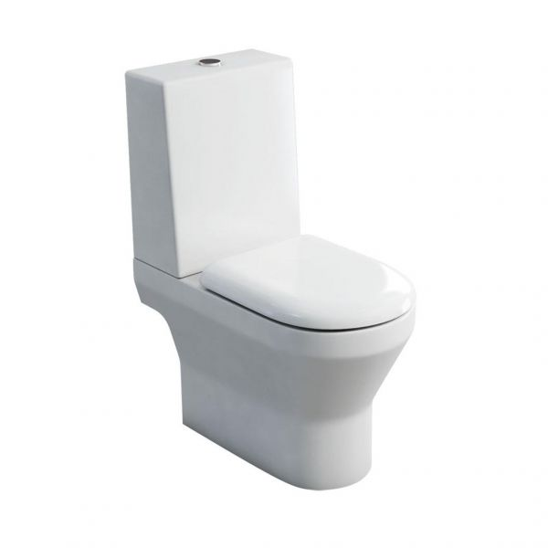 Britton Curve Close Coupled WC Inc One Piece Cistern and Soft Close Seat 301958 CC1034 SS1026
