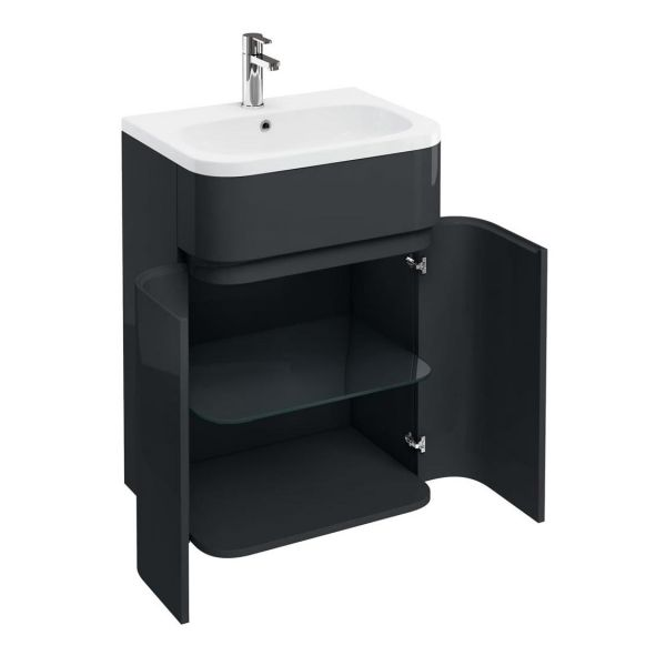 Britton Gullwing and Arc Anthracite Grey 2 Door Unit and Basin AG41G Q6045G