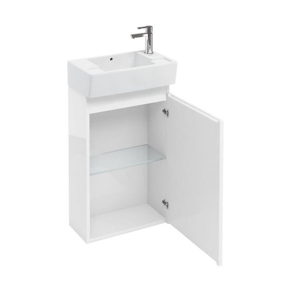 Britton Compact White 1 Door Unit and Basin AR40W CR1976