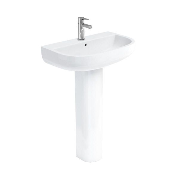 Britton Compact 650mm 1 Tap Hole Basin CM0003
