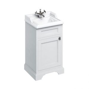 Burlington Classic 510 Freestanding Cloakroom Square Vanity Unit and Basin