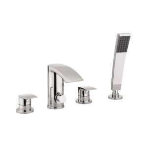 Crosswater Flow Chrome 4 Hole Bath Shower Mixer Tap