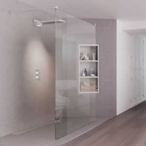 Aqata Design Solutions DS440 1400 Double Entry Walk In Wetroom Shower Screen