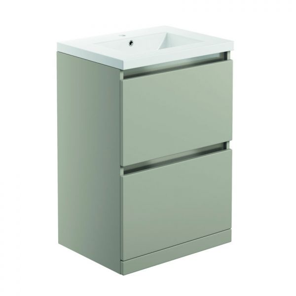 Bathrooms To Love Carino 600 Latte Floor Standing Vanity Unit and Basin