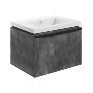 Bathrooms to Love Framework 600 Grey Metal Wall Hung Vanity Unit and Basin