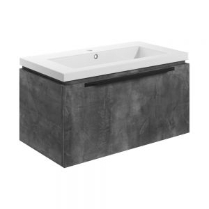Bathrooms to Love Framework 800 Grey Metal Wall Hung Vanity Unit and Basin