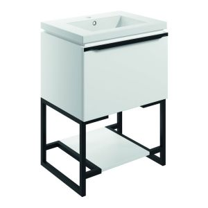 Bathrooms to Love Framework 600 Matt White Floor Standing Vanity Unit and Basin
