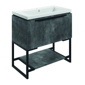 Bathrooms to Love Framework 800 Grey Metal Floor Standing Vanity Unit and Basin