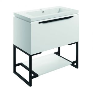 Bathrooms to Love Framework 800 Matt White Floor Standing Vanity Unit and Basin