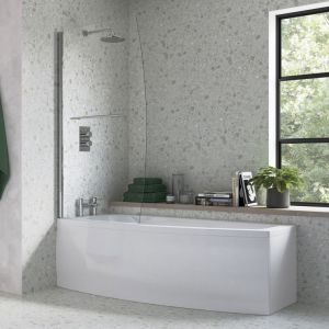 Moods Space Saver 1700 x 700 Left Hand Shower Bath Inc Screen and Panel DIBSHP098