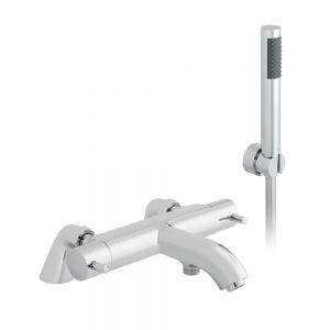 Vado Zoo Thermostatic Bath Shower Mixer Tap with Shower Kit CEL131TKCP